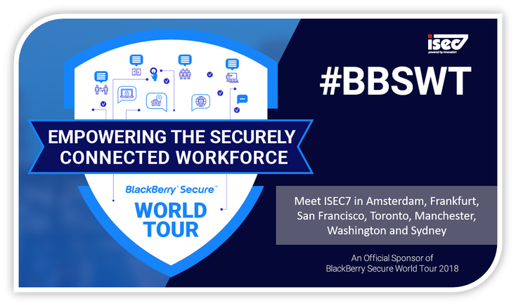 Scopri i momenti salienti di BlackBerry Secure World Tour