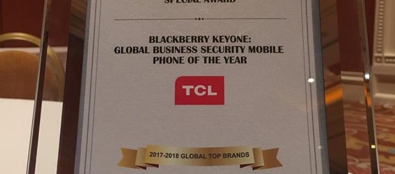 """BlackBerry KEYone ha vinto"""" Global Business Security Phone of the Year """""""