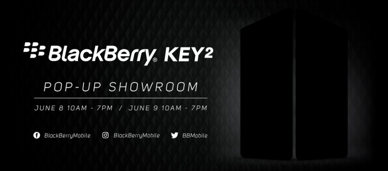 BlackBerry Mobile annuncia lo show-show pop-up per mostrare il BlackBerry KEY2