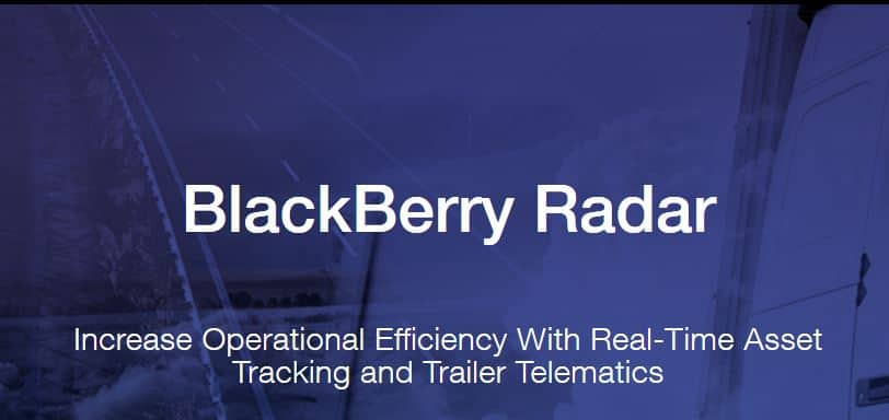 BlackBerry Radar è ora disponibile per oltre 2.800 concessionari di veicoli commerciali in Nord America