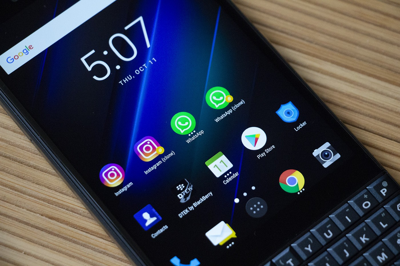 Come clonare le app su BlackBerry KEY2 LE