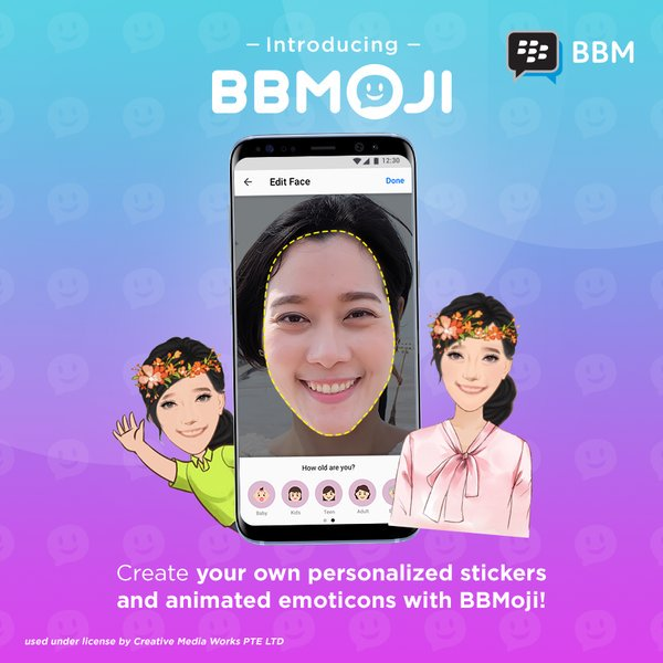 BBMoji Your personalized BBM Stickers si aggiorna nel Play Store di Google